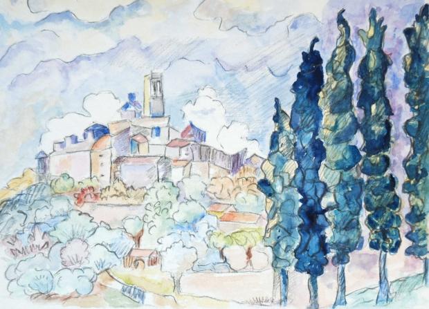 d'apres-Signac, réalisation de Marie-Helene